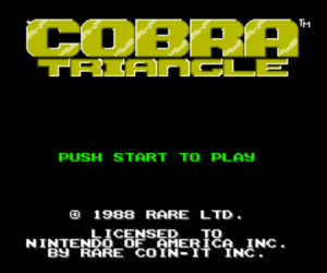 COBRA TRIANGLE - NES - Actually Playing the Game Now!